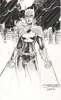 Jim Lee Sketches Batgirl
