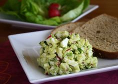 This Avocado Egg Salad recipe is creamy, crunchy and full of color and great taste. It's the perfect solution for leftover hard boiled eggs