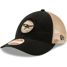 26a9049515120 Men s Baltimore Orioles New Era Black Cooperstown Collection Front Patched  Trucker 9TWENTY Adjustable Hat