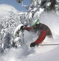 Mt Bachelor at Bend, Oregon is one of the Pacific Northwest's largest ski areas. Offering world-class skiing and snowboarding it is famous for its deep, dry powder, and plays host to Olympic hopefuls and International competitions.  See Travel Oregon for more info.