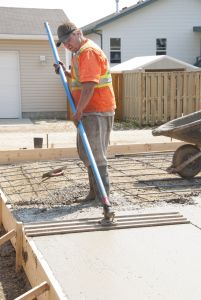 Before you begin prepare the site properly by digging it out and packing the base with a hand tamping tool. Add two inches of gravel on top of heavy soil ... Find concrete tools at www.bontool.com
