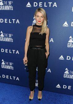 Julianne Hough at the pre-Grammys Delta bash