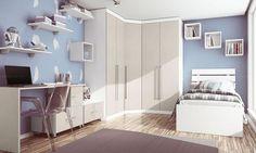 decoração de quarto azul