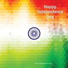 Happy Independence Day India Vector Background Happy Independence Day India, Independence Day Greetings, Free Vector Backgrounds, Vector Free, Independance Day, Indian Flag, Flag Background, Incredible India, 15 August