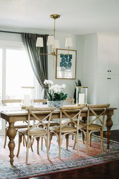 This rustic, transitional, farmhouse style dining room featured on Domino gets recreated for less by copycatchic luxe living for less budget home decor and design daily finds and room redos