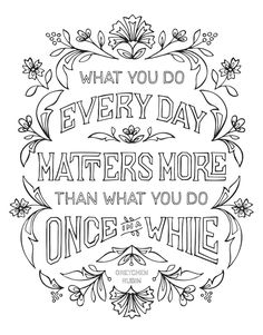 amazonsmile the happiness project mini posters a coloring book 20 hand lettered