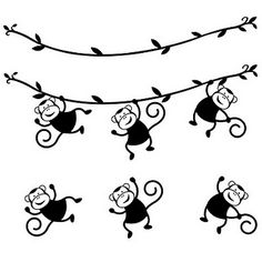 Free 3 SVG Monkeys.