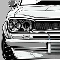 Source: dirtynailsbloodyknuckles Nissan Skyline, Skyline Gtr, Nissan Gtr Nismo, Carros Bmw, Jdm Stickers, Automobile, Car Illustration, Illustrations, Japan Cars
