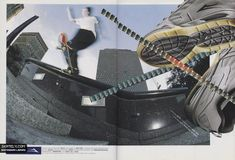 This magazine ad for Lakai from 2002 features Anthony Pappalardo at Black Hubba. Magazine Ads, Skate Shoes, Bags, Style, Fashion, Handbags, Swag, Moda, Fashion Styles