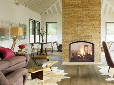 20 Gorgeous Two-Sided Fireplaces For Your Spacious Homes