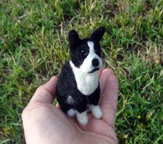 Boston Terrier Needle Felted Dog by Kristin Saenz by SaenzArt, $80.00. #bostonterrier #needlefelteddog #wooldog #feltdog #cutepuppy #cutedog #cute #terrier #fiberart #feltedanimal #woolanimal #ooak #puppyface #dog #puppy #etsy #breed #dogbreed #pup https://www.etsy.com/listing/191038959/boston-terrier-needle-felted-dog-by?ref=shop_home_active_1