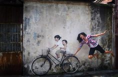 Street art waar je zelf iets aan toe kunt voegen