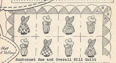 Vintage 1940s SunBonnet Sue Overall Bill Pdf by TheVintageNeedles