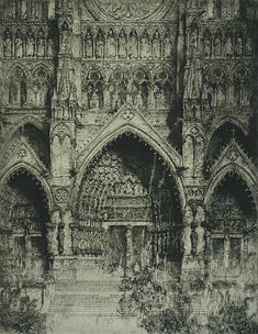 La Cathédrale d'Amiens - Jules De Bruycker - etching