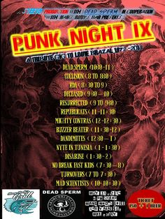 « PUNK NIGHT IX (Tribute to Louie Brazal) May 31 @ Mang Rudy's, Yakal »
