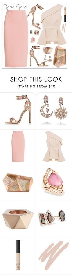 """Look # 693"" by lookat ❤ liked on Polyvore featuring River Island, Diego Percossi Papi, Roland Mouret, C/MEO COLLECTIVE, Rafe, Stephen Webster, CB2, Kimberly McDonald, NARS Cosmetics and rosegold"