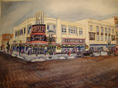 S S Kresges 5 and 10 Store Grand Rapids, Print by Arlene Faye.  Had a huge lunch counter with stools.  A favorite for a coke and fries.