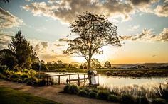 Bride & Groom  Sunset + pond Salt Studios| Toowoomba Wedding and Commercial Photography