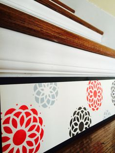 Make your 'old stairs' feel gorgeous again! Visit www.tributedesigns.etsy.com today to see the possibilities. Custom sizes, colors and designs are encouraged and at no additional cost - because no two staircases are alike!