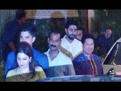 Sachin Tendulkar with family at Amitabh Bachchan house for Diwali party Amitabh Bachchan House, Diwali Party, Sachin Tendulkar, Sports Celebrities, Music, Youtube, Muziek, Music Activities, Youtubers