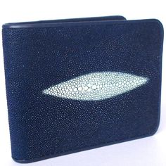 BEAUTIFUL GENUINE STINGRAY LETHER WALLET BLUE COLOR WITH 2 WHITE PEARL BOTH SIDE ** Click image to review more details. (This is an Amazon Affiliate link and I receive a commission for the sales)