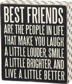 Best Friends Wood Sign