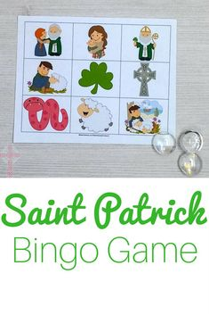 Encourage your Catholic students to learn more about Saint Patrick with these Bingo cards. Boost their knowledge with prompts that review information about St Patrick. It's the perfect no-prep game for your Christian classroom!#StPatrick#CatholicPrintables#ChristianPrintables#CatholicActivities