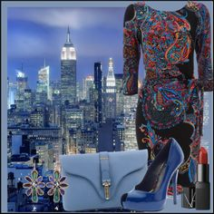 """""""NYC Blues"""" by jacque-reid ❤ liked on Polyvore"""
