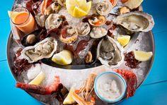 Raw Sea Food Plateau   Il Riccio Restaurant & Beach Club, Anacapri, Italy