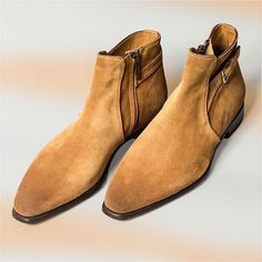 Altan Bottier Artisans Bottiers à Paris — The Alpine suede leather Altan Bottier, Sand...