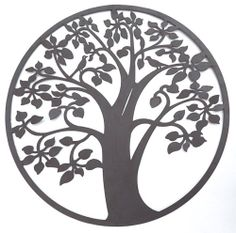 """New Tree of Life Metal Wall Art Home Decor Sculptures Paintings Plaque 24"""" A 