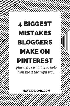Are you a blogger or business owner looking to make pinterest work for you? Here are some of the most common errors I see when bloggers are struggling with pinterest growth. Plus- click through to sign up for a free training to work on fixing these errors.