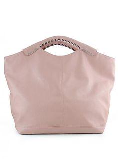 Pink Vintage Totes Bag With Rivet