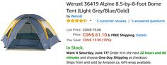 Amazon Canada Deals: Save 19% on Wenzel Alpine 8.5-by-8-foot Dome Tent & 33% on Bormioli Rocco Murano Cobalt Blu... http://www.lavahotdeals.com/ca/cheap/amazon-canada-deals-save-19-wenzel-alpine-8/212848?utm_source=pinterest&utm_medium=rss&utm_campaign=at_lavahotdeals