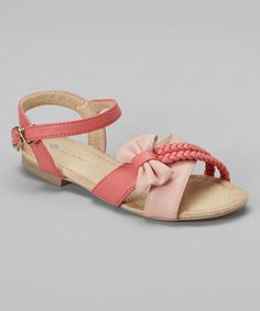Look at this Coral & Blush Braided Strap Violet Sandal on #zulily today!