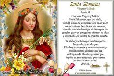 Rincón de la Oración: Estampas Oraciones de Santa Filomena