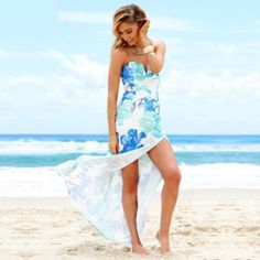 How to pack for tropical weather - Leisure Letting South Coast Cute Floral Dresses, Plus Size Maxi Dresses, Floral Maxi Dress, Prom Dresses Online, Dresses For Teens, Summer Dresses For Women, Dress Online, Tube Top Dress, Slit Dress