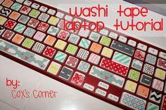 Tutorial Tuesday: Washi Laptop Makeover | Cox's Corner