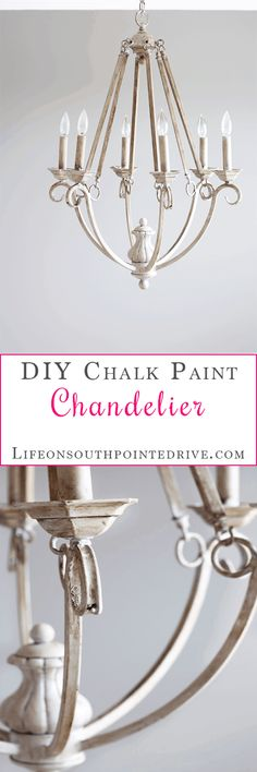 Diy Furniture : Home DIY Chalk Painted Chandelier Chalk Paint Chalk Paint Chandelier Chande Painted Chandelier, Old Chandelier, Chandelier Makeover, Lamp Makeover, Farmhouse Chandelier, Furniture Makeover, Kitchen Chandelier, Chandelier Ideas, Dresser Makeovers
