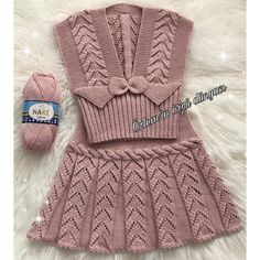 U Happy days . I wish you a nice week . - Nurcan Pelek - - U Happy days . I wish you a nice week . Baby Knitting Patterns, Crochet Patterns For Beginners, Knitting For Kids, Crochet For Kids, Knitting Designs, Crochet Geek, Baby Patterns, Hand Knitting, Knit Baby Dress