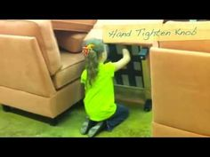 Sofa Sectional Unit Assembled in less than 1 Minute by 7 year old girl - YouTube