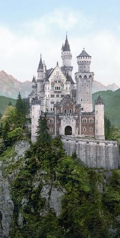 Schloss Neuschwanstein (Neuschwanstein Castle) another front view Beautiful Castles, Beautiful Buildings, Beautiful World, Beautiful Places, Real Castles, Amazing Places, Places Around The World, Oh The Places You'll Go, Places To Travel