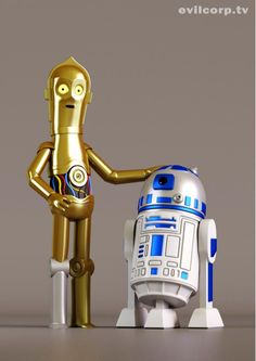 C-3P0 and R2-D2 #starwars, Gumbie and Pokie