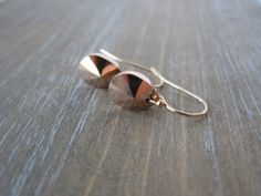 Rose Gold Swarovski Earrings Teardrop Earrings by SongYeeDesigns