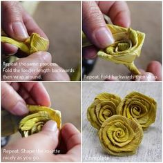 Reduce. Reuse. Recycle. Replenish. Restore.: DIY: How To Make A Corn Husk Rosette/Rose