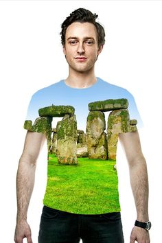 Summer Henge (Stonehenge) All-over Printed Unisex Fashion Tees by Skye Ryan-Evans