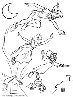 Peter Pan color page, disney coloring pages, color plate, coloring sheet,printable coloring picture