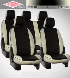 Белые с черным чехлы Автопилот на сиденья от интернет магазина Autopilot style. http://autopilot-style.ru/ для Ауди, Бмв