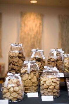 Wedding Reception Food Wedding Catering Trends: 4 Food Bar Types You Need To Try: Cookie Bar Wedding, Wedding Food Bars, Wedding Food Catering, Wedding Reception Food, Wedding Cookies, Wedding Desserts, Catering Food, Catering Ideas, Easy Wedding Food