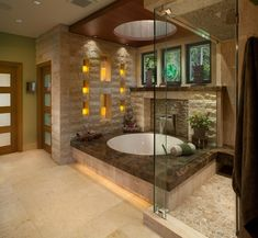 Shower with windows